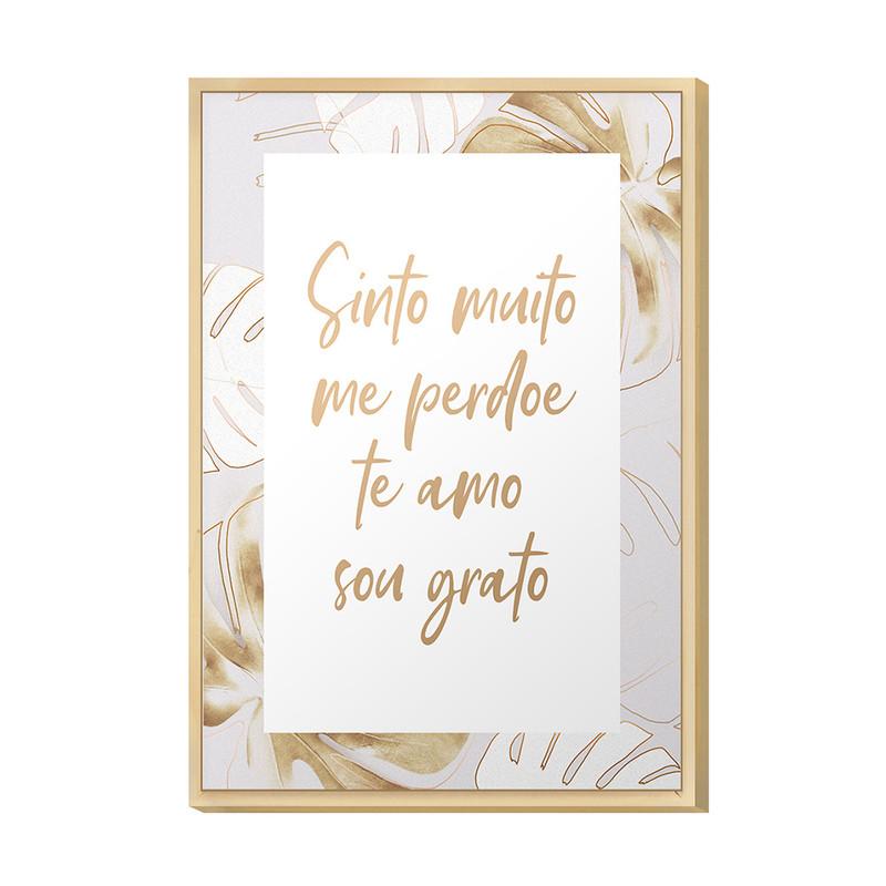 Quadro Decorativo 20x30 Frases Amor Gratidão Sala Quarto