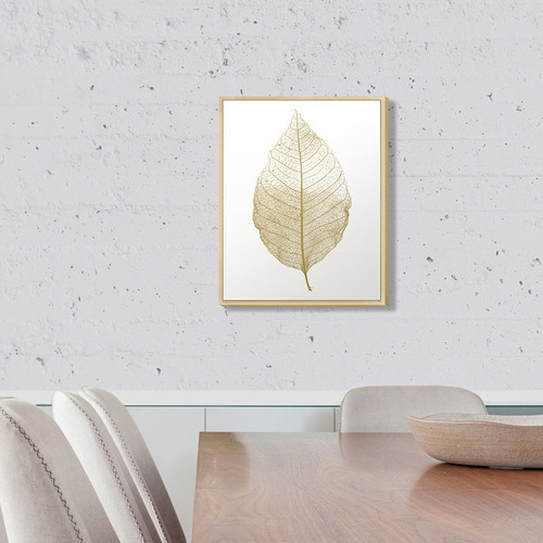 Quadro Decorativo 30x40 Folha Dourada Sala Quarto