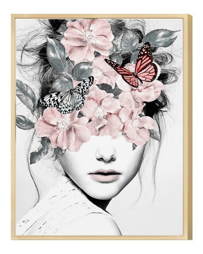 Quadro Decorativo 30x40 Mulher Surreal Abstrato Sala Quarto