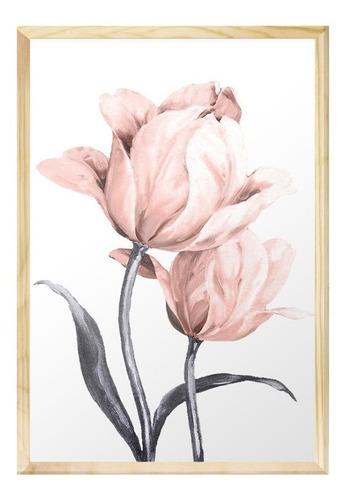 Quadro Decorativo 40x60 Rosas Flores Rose Feminino Quarto