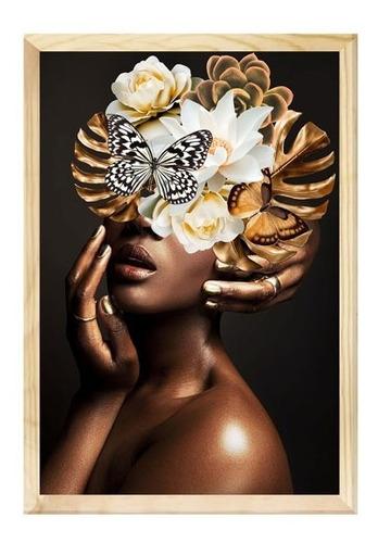 Quadro Decorativo Mulher Surreal Floral Quarto Sala 40x60