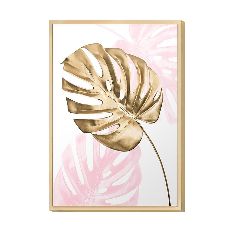 Quadro Decorativo para Quarto de Casal 20x30cm Costela Adão Rose Gold Moldura Caixa Pinus - Hugart