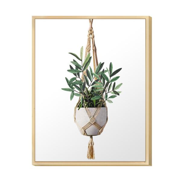 Quadro Decorativo para Sala de Jantar 30x40cm Moldura Caixa Plantas Jardim Folhas Verdes - Hugart