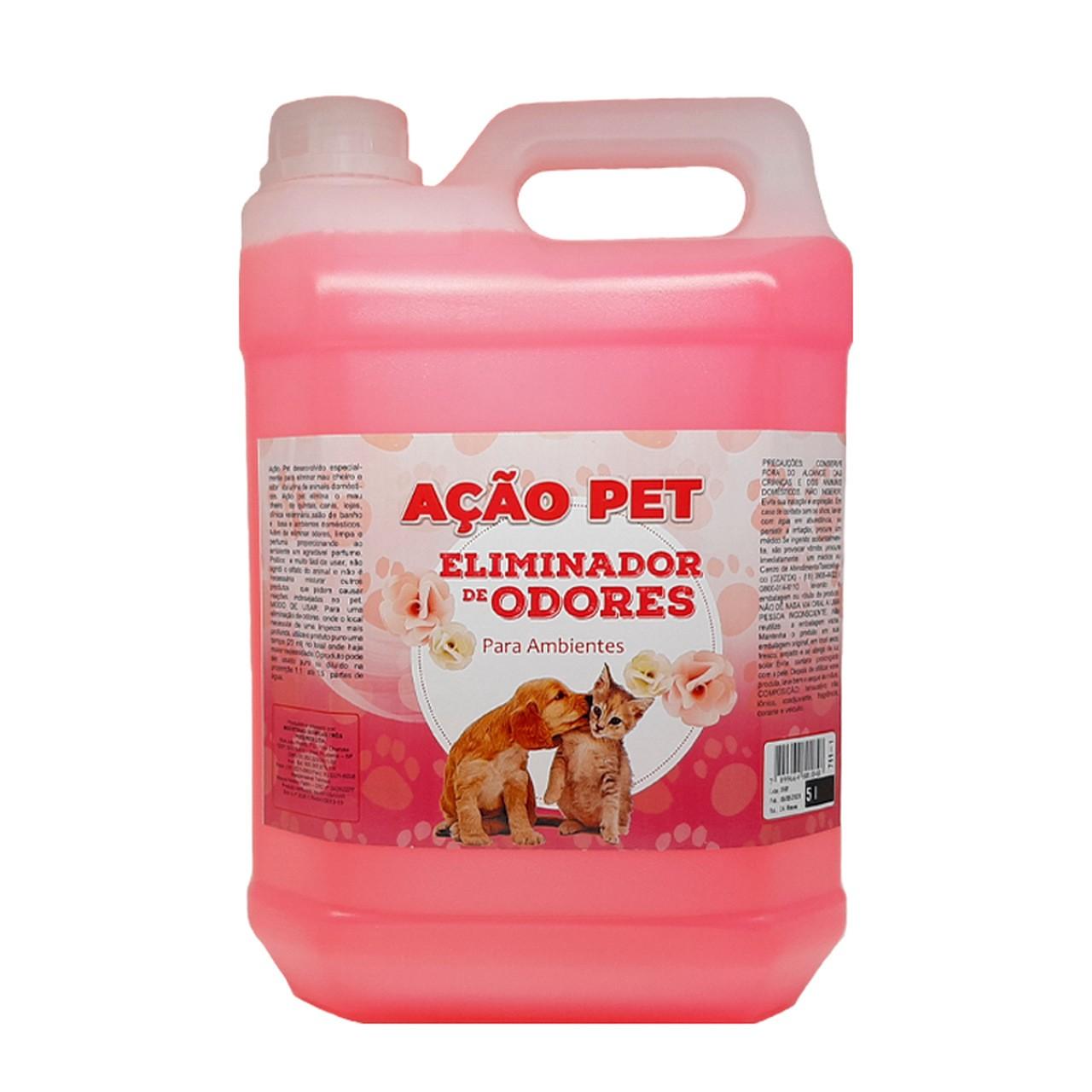AÇÃO PET 3 Poderes 5LTS - Eliminador De Odores Para Ambientes