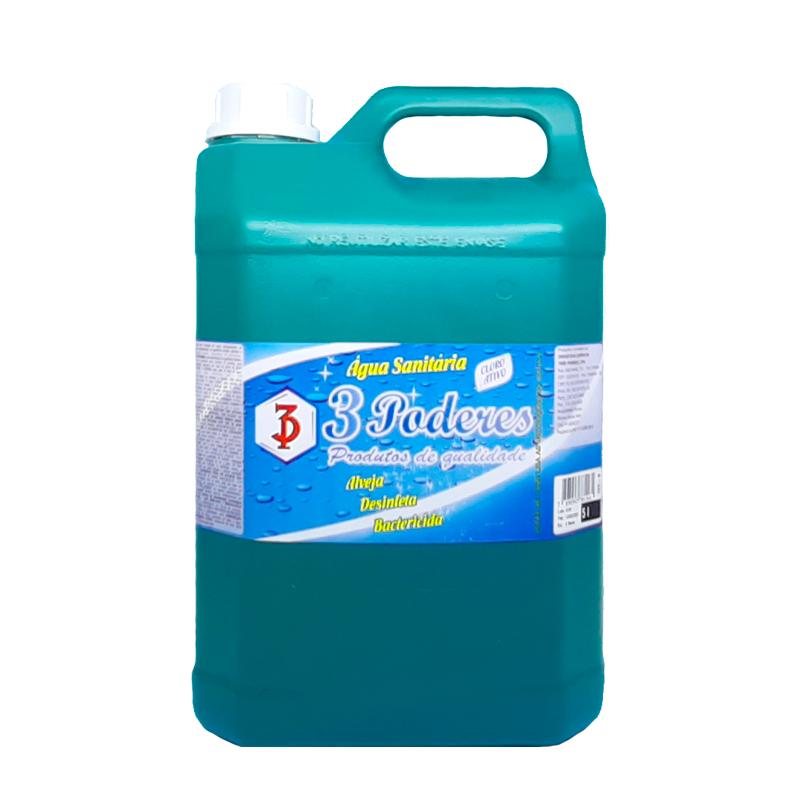 Água Sanitária 3 Poderes 5 LTS