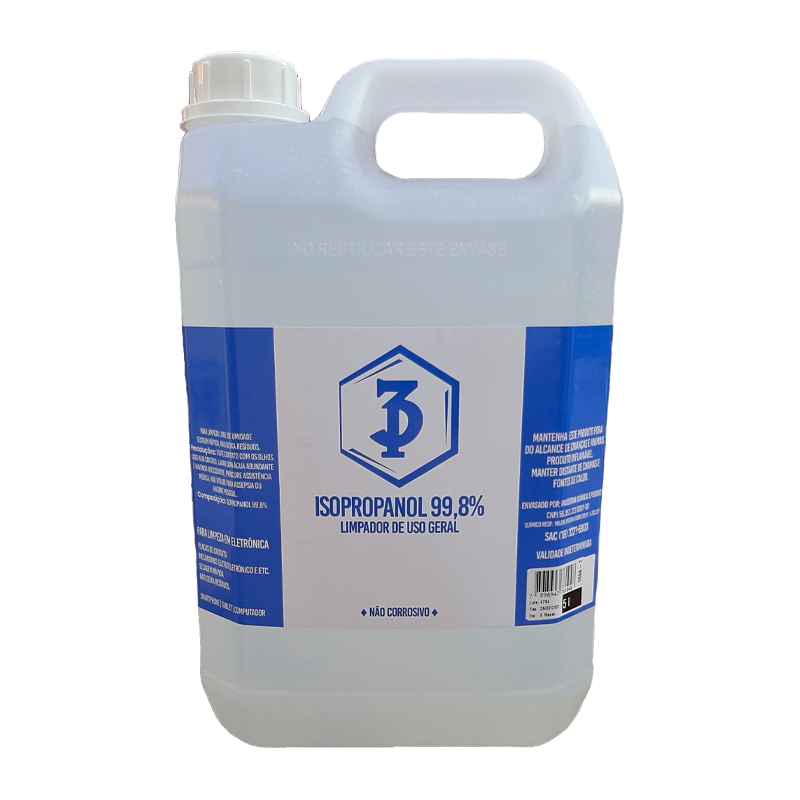 Álcool Isopropílico 99,8% 3 Poderes 5 LTS - Limpador de uso geral