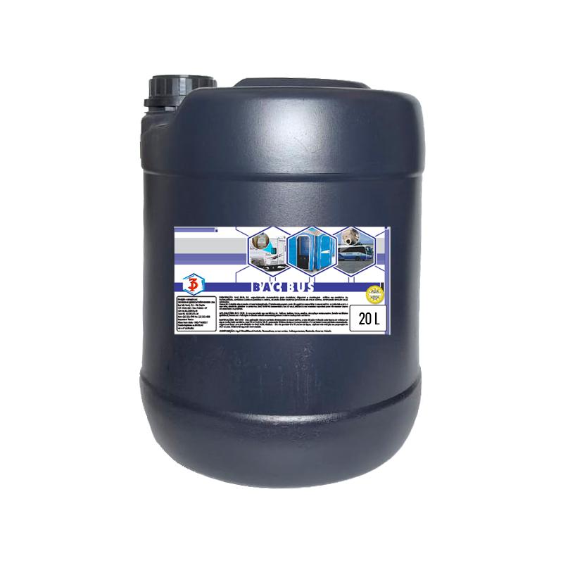 BAC BUS 3 Poderes 20 LTS - Desinfetante Bactericida para Banheiros Moveis e Toaletes