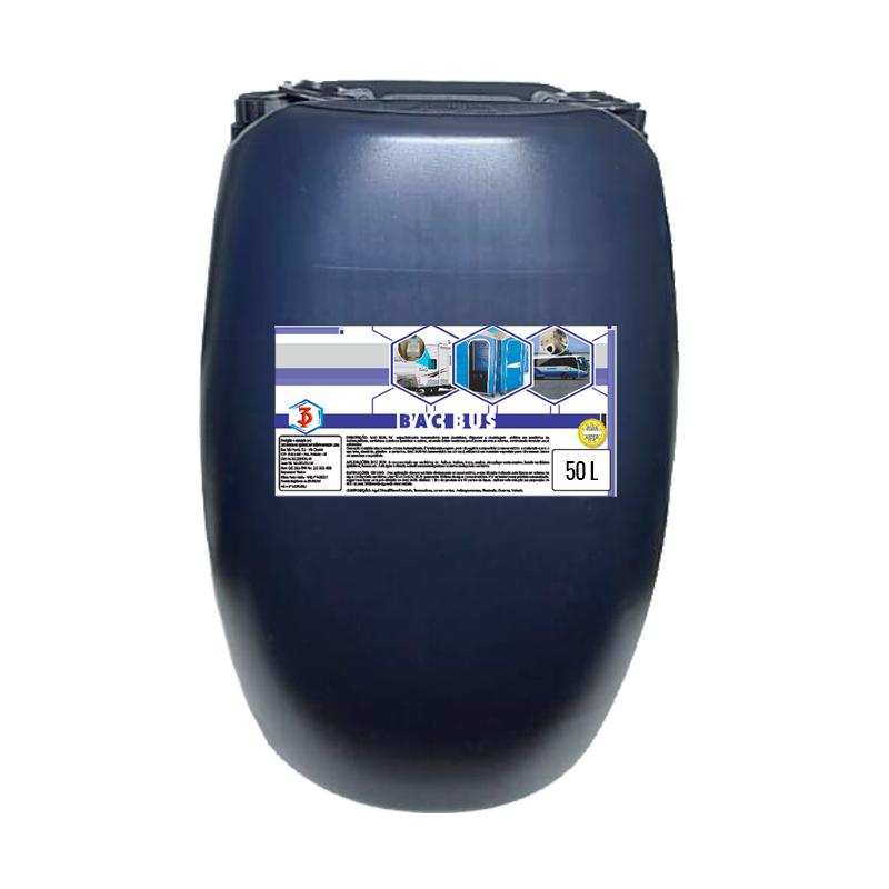 BAC BUS 3 Poderes 50 LTS - Desinfetante Bactericida para Banheiros Moveis e Toaletes