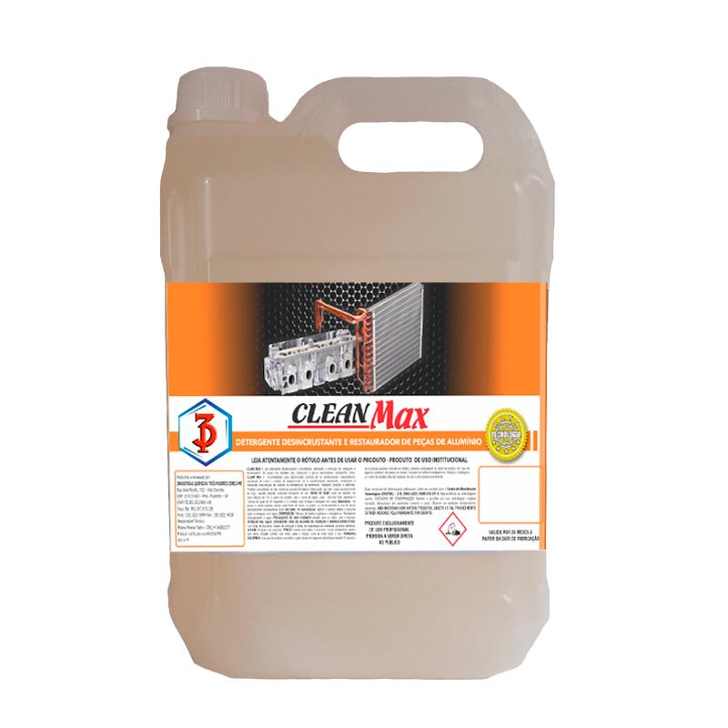 Clean Max 3 Poderes 5LTS - Detergente Desincrustante e Restaurador de Peças de Alumínio