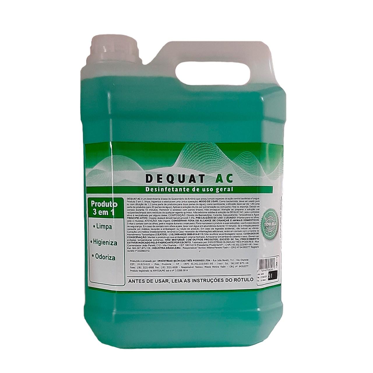 DEQUAT AC 3 Poderes 5LTS - Desinfetante para Limpeza de Ar Condicionado