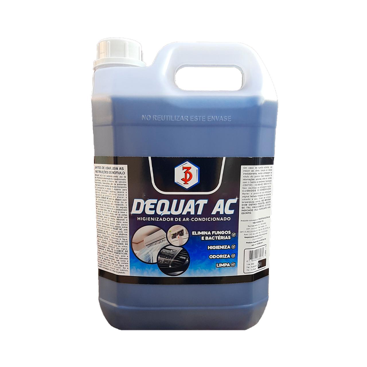 DEQUAT AC 3 Poderes 5LTS - Higienizador De Ar Condicionado E Desinfetante (Pronto Uso)
