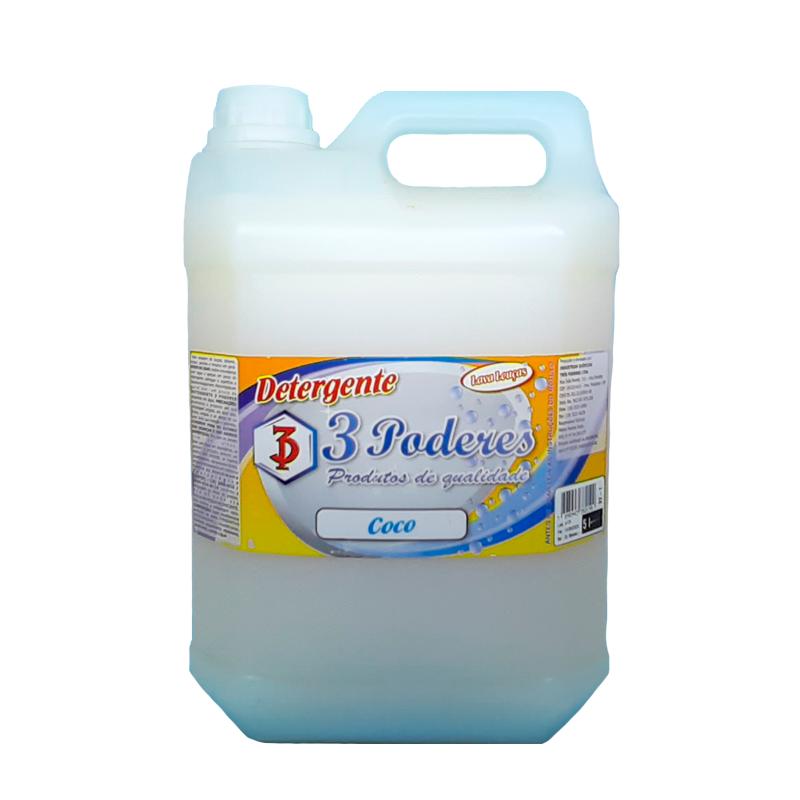 Detergente Coco 3 Poderes 5 LTS - Lava Louças
