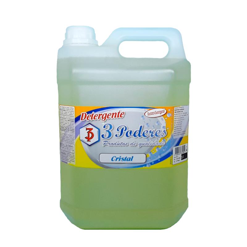 Detergente Cristal 3 Poderes 5 LTS - Lava Louças