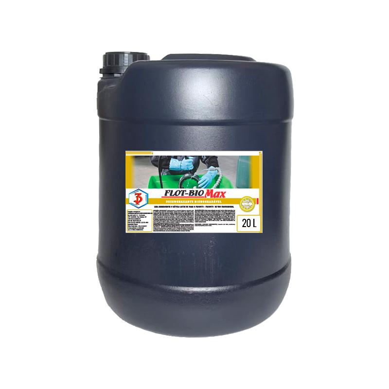 FLOT-BIO MAX 3 Poderes 20LTS - Desengraxante Biodegradável para limpeza de peças em geral.