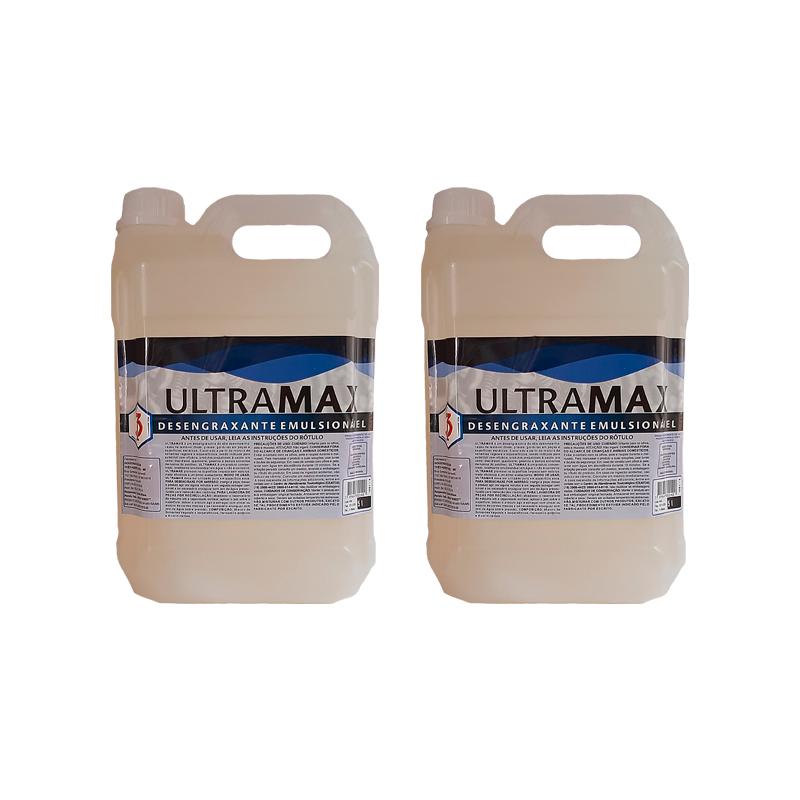Kit 2 ULTRAMAX 3 Poderes 5LTS - DESENGRAXANTE EMULSIONÁVEL