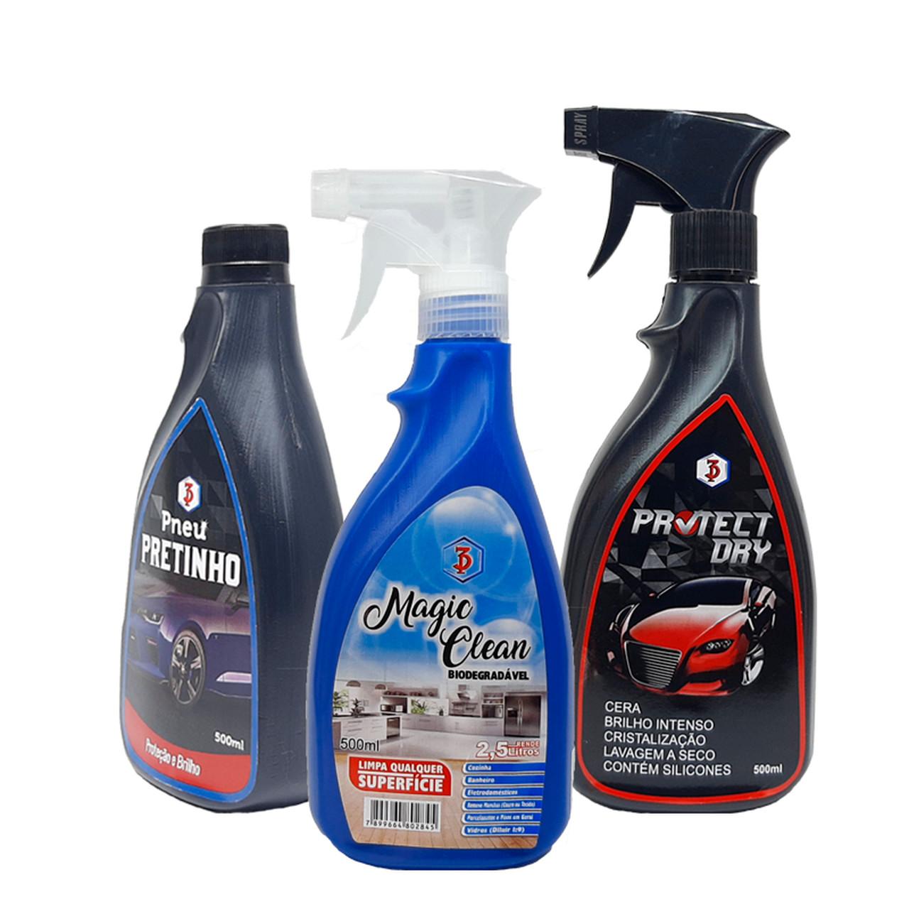 Kit Limpeza Automotiva Externa e Interna