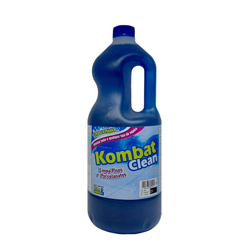 Kombat Clean 3 Poderes 2LTS - Limpa Pisos e Porcelanatos