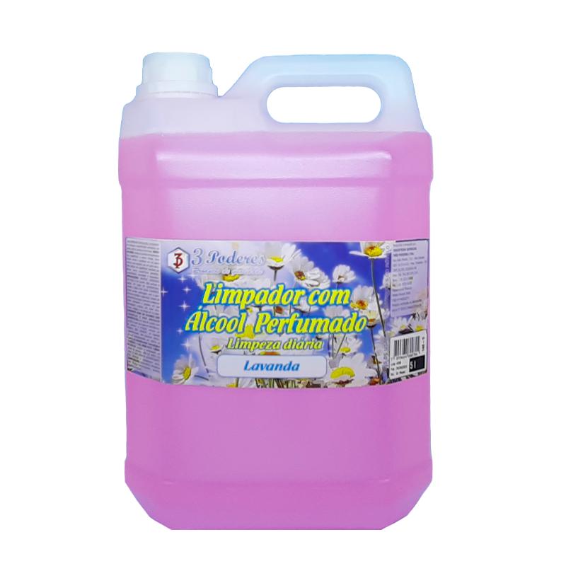 Limpador com Álcool Perfumado 3 Poderes Lavanda 5LTS - Limpeza Profunda
