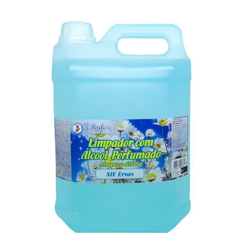 Limpador com Álcool Perfumado 3 Poderes XVI Ervas 5LTS - Limpeza Profunda