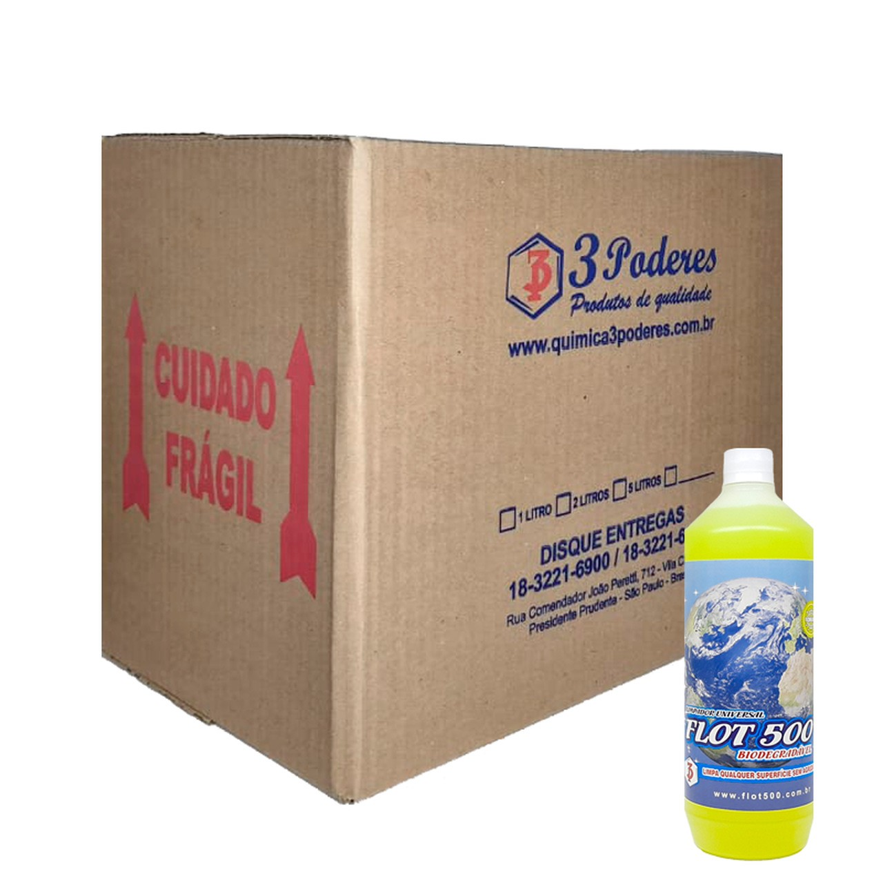 Limpador Universal Flot 500 3 Poderes 1L - flotador Biodegradável - Caixa com 12 Un.