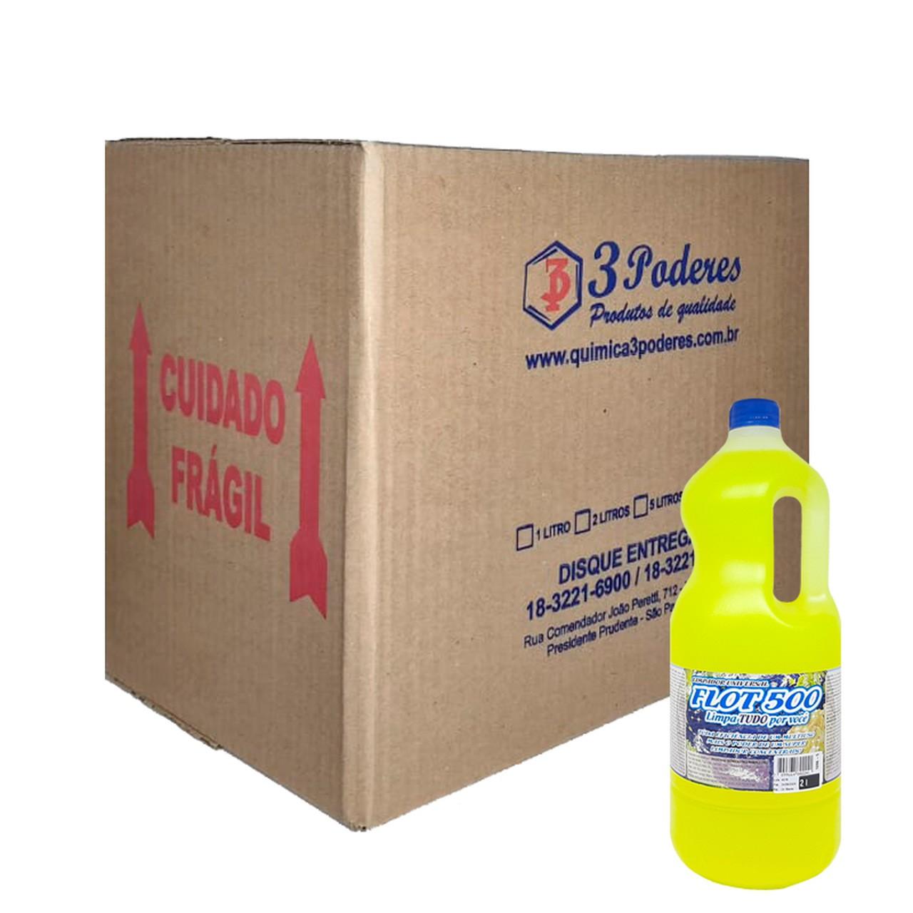 Limpador Universal Flot 500 3 Poderes 2LTS -Flotador Biodegradável - Caixa com 6 Un.