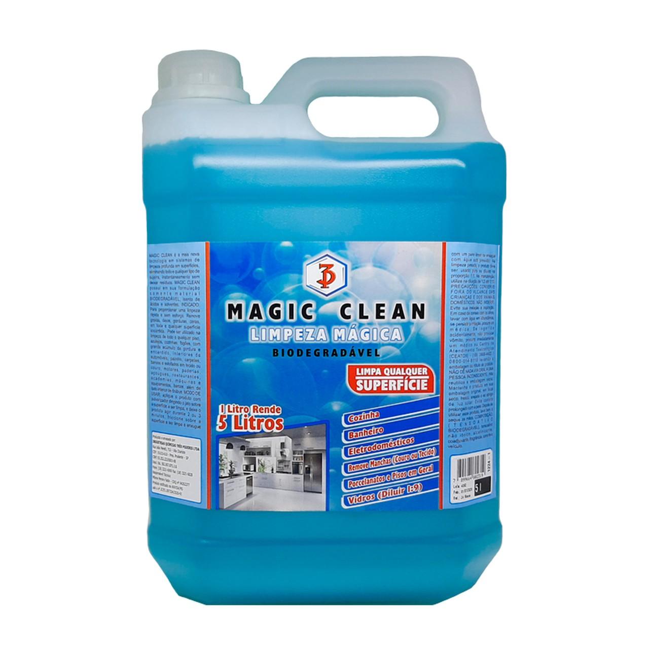 MAGIC CLEAN 3 PODERES 5LTS - LIMPEZA MÁGICA flotador desengordurante