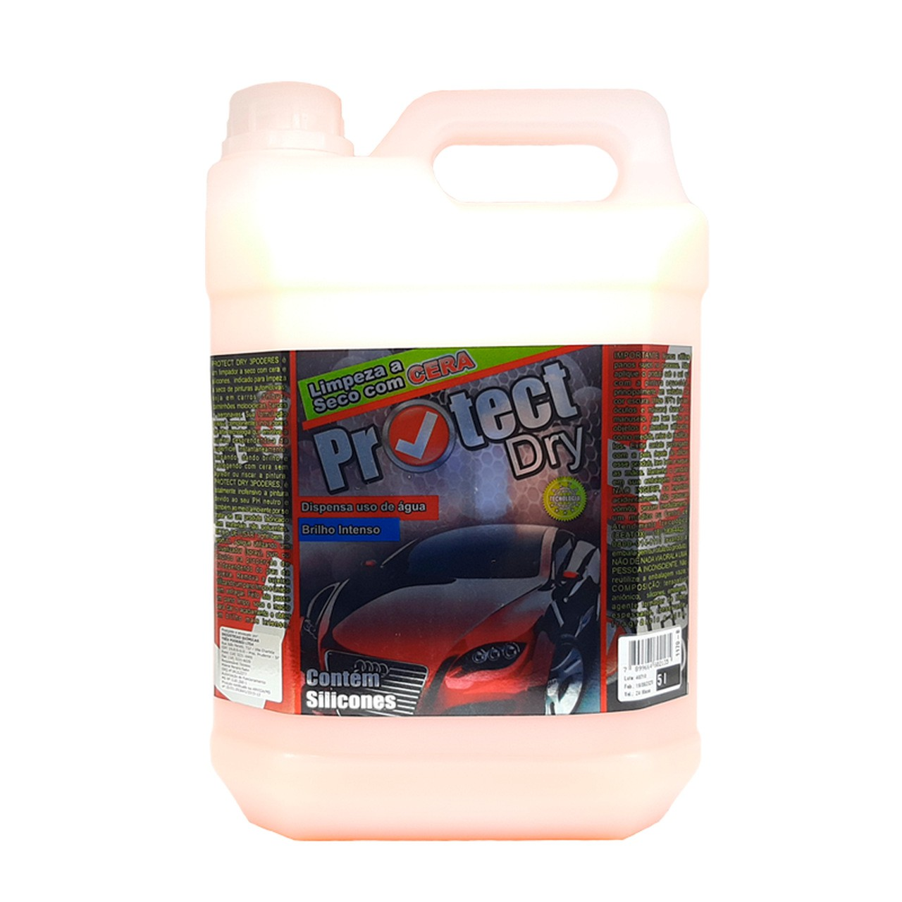 Protect DRY 3 Poderes 5LTS - Cera Limpadora à seco de auto brilho com silicone para automóveis