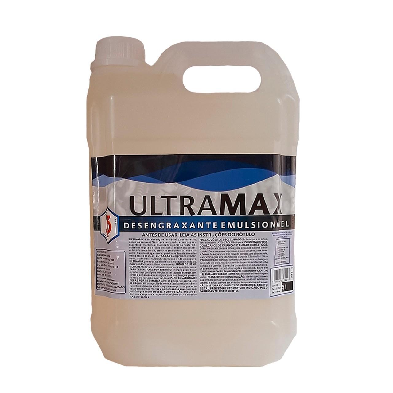 ULTRAMAX 3 Poderes 5LTS - DESENGRAXANTE EMULSIONÁVEL