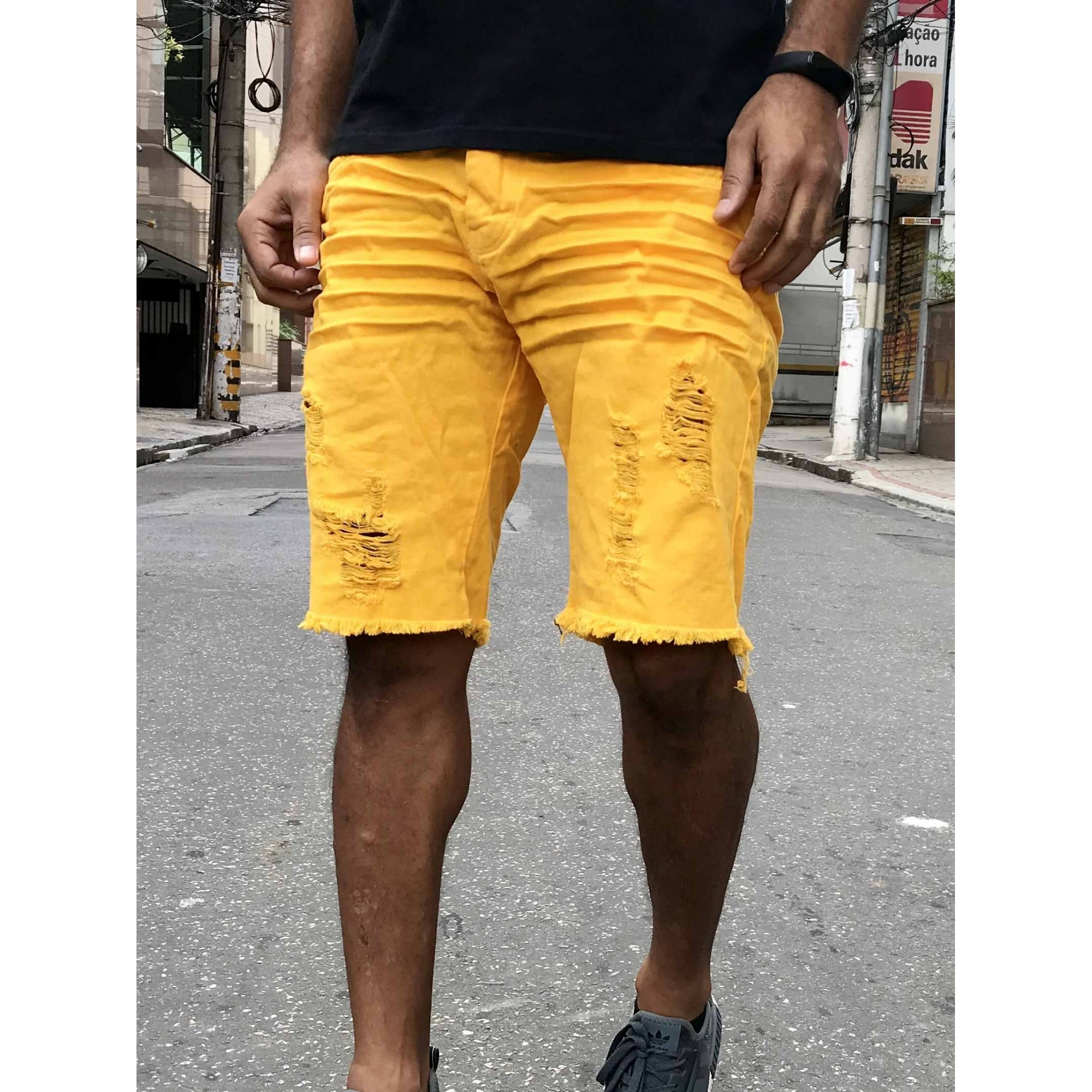 BERMUDA JEANS DEGRANT YELLOW MELLOW