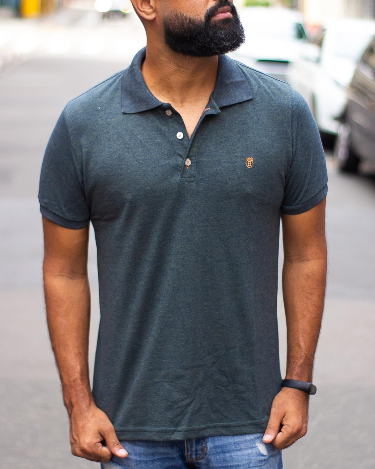 CAMISA POLO BLACK WEST BASIC TWISTER OURO/MAR