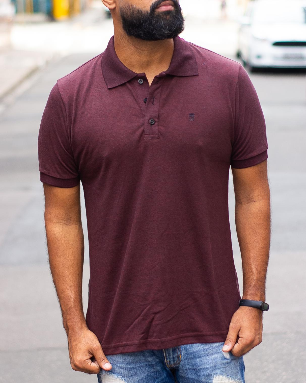 CAMISA POLO BLACK WEST BASIC TWISTER PTO/BORDO