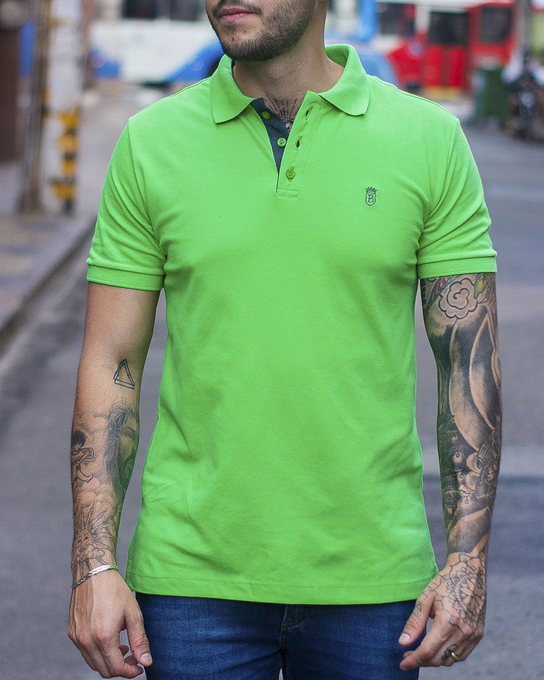 CAMISA POLO BLACK WEST VERDE LIMAO