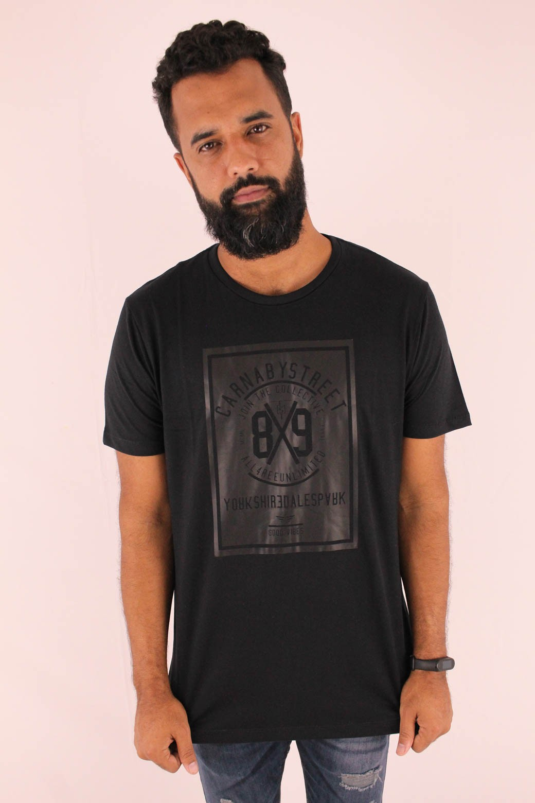 CAMISETA ESTAMPADA ALL FREE CARNA BY STREET ALL BLACK