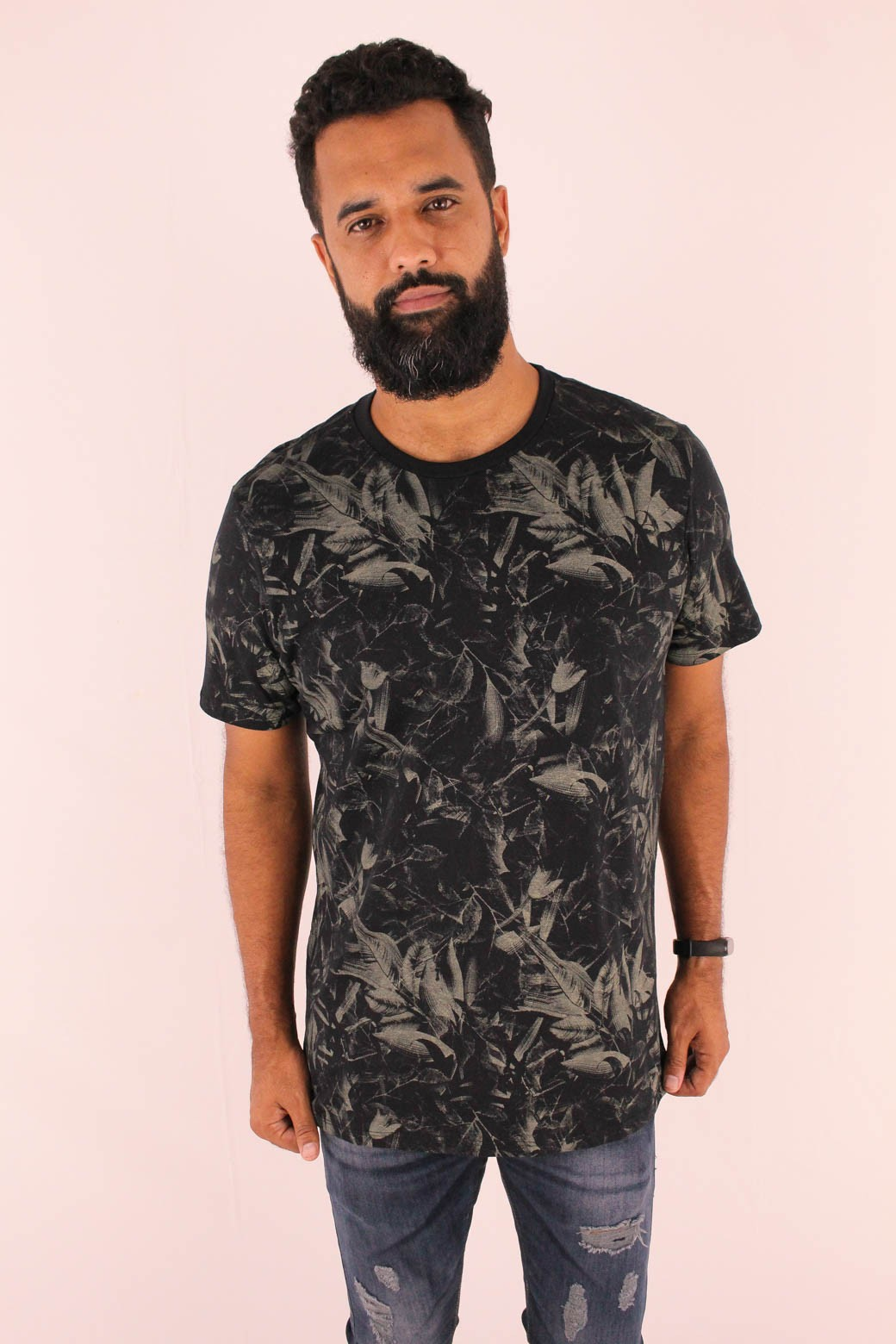 CAMISETA ESTAMPADA ALL FREE FULL PRINT DARK FLOWERS