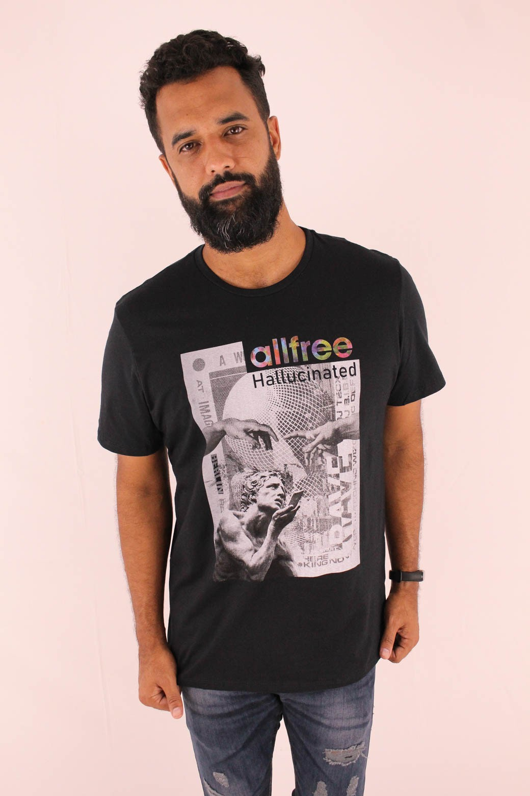 CAMISETA ESTAMPADA ALL FREE HALLUCINATED PRETA