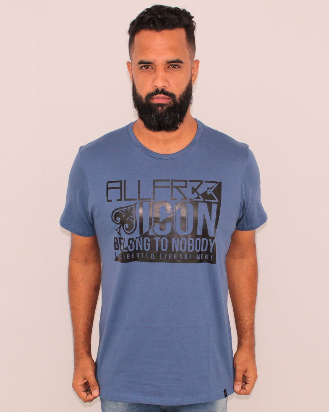 CAMISETA ESTAMPADA ALL FREE ICON AZUL