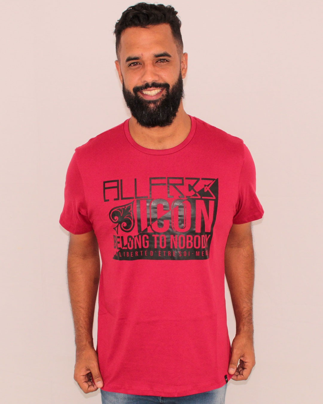 CAMISETA ESTAMPADA ALL FREE ICON VERMELHA