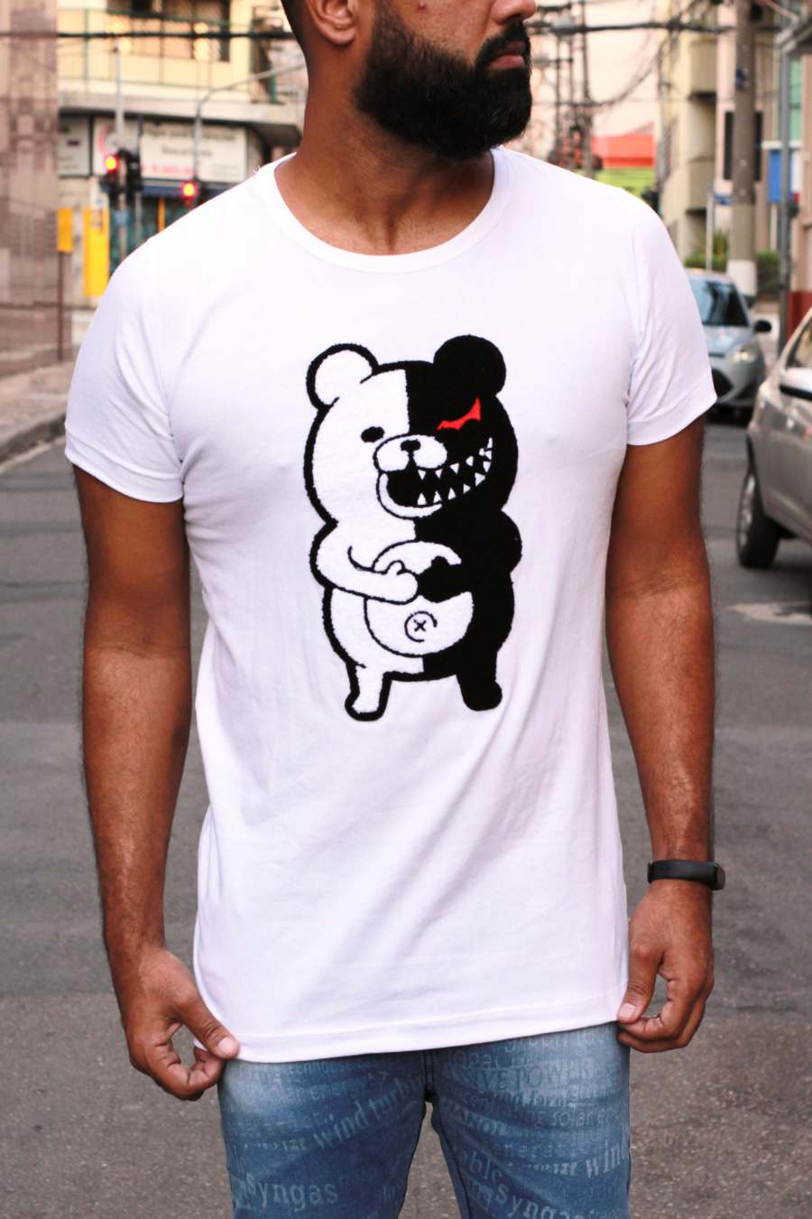 CAMISETA LONGLINE JOHN JONES HUNT BEAR FELPUDO