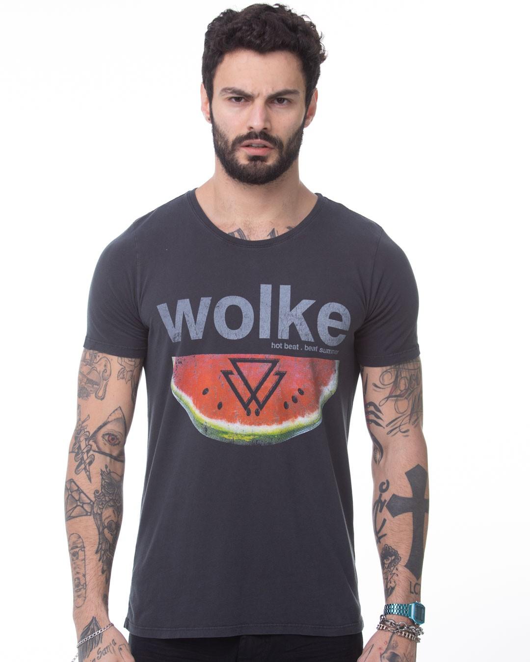 CAMISETA LONGLINE WOLKE WATERMELON WLK