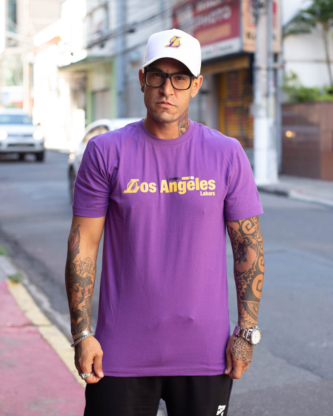 CAMISETA NEW ERA EXTRA FRESH TAPE LAKERS