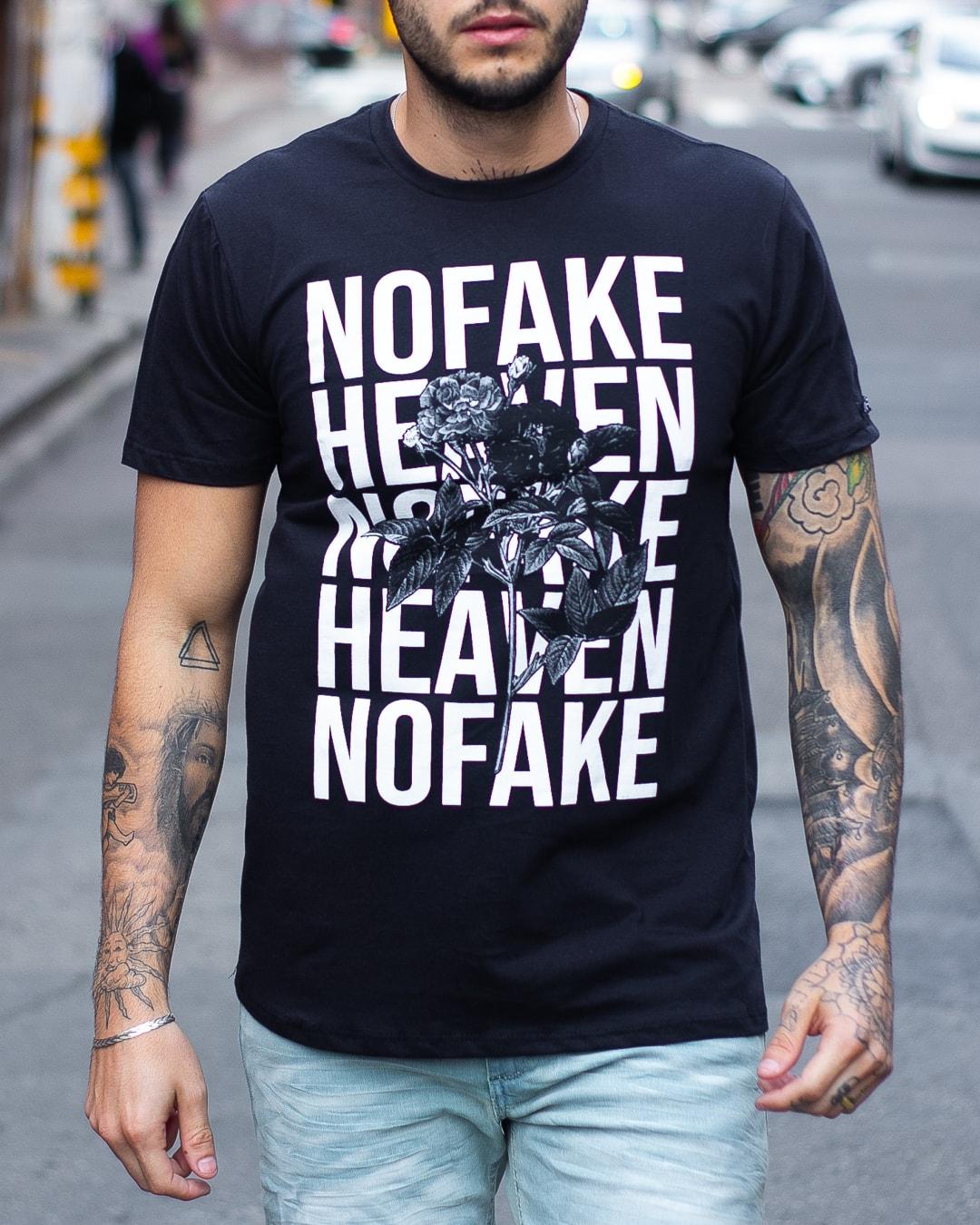 CAMISETA NOFAKE NFK HEAVEN PRETA
