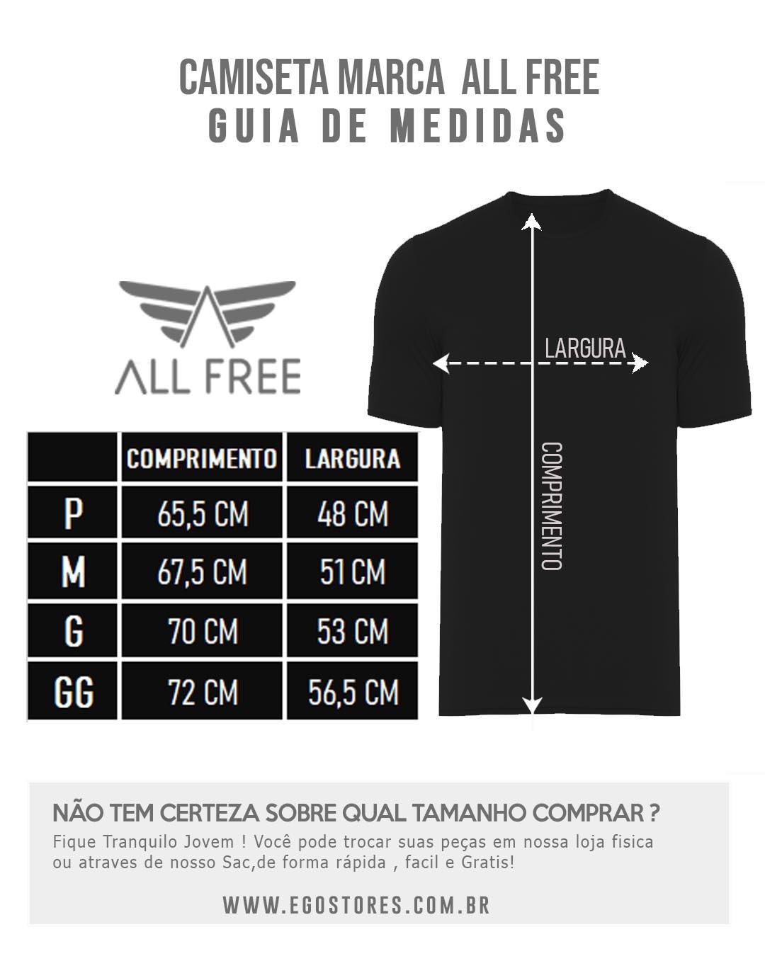 CAMISTA ESTAMPADA ALL FREE RISCO FOLHAS