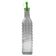 Azeiteiro/Vinagreiro de Vidro com Dosador Quadrados 500ml