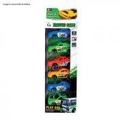 Kit de Carrinhos Fricção City Car 6 Unidades