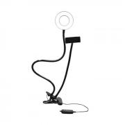 Ring Light Ajustável com Clip Fixador USB