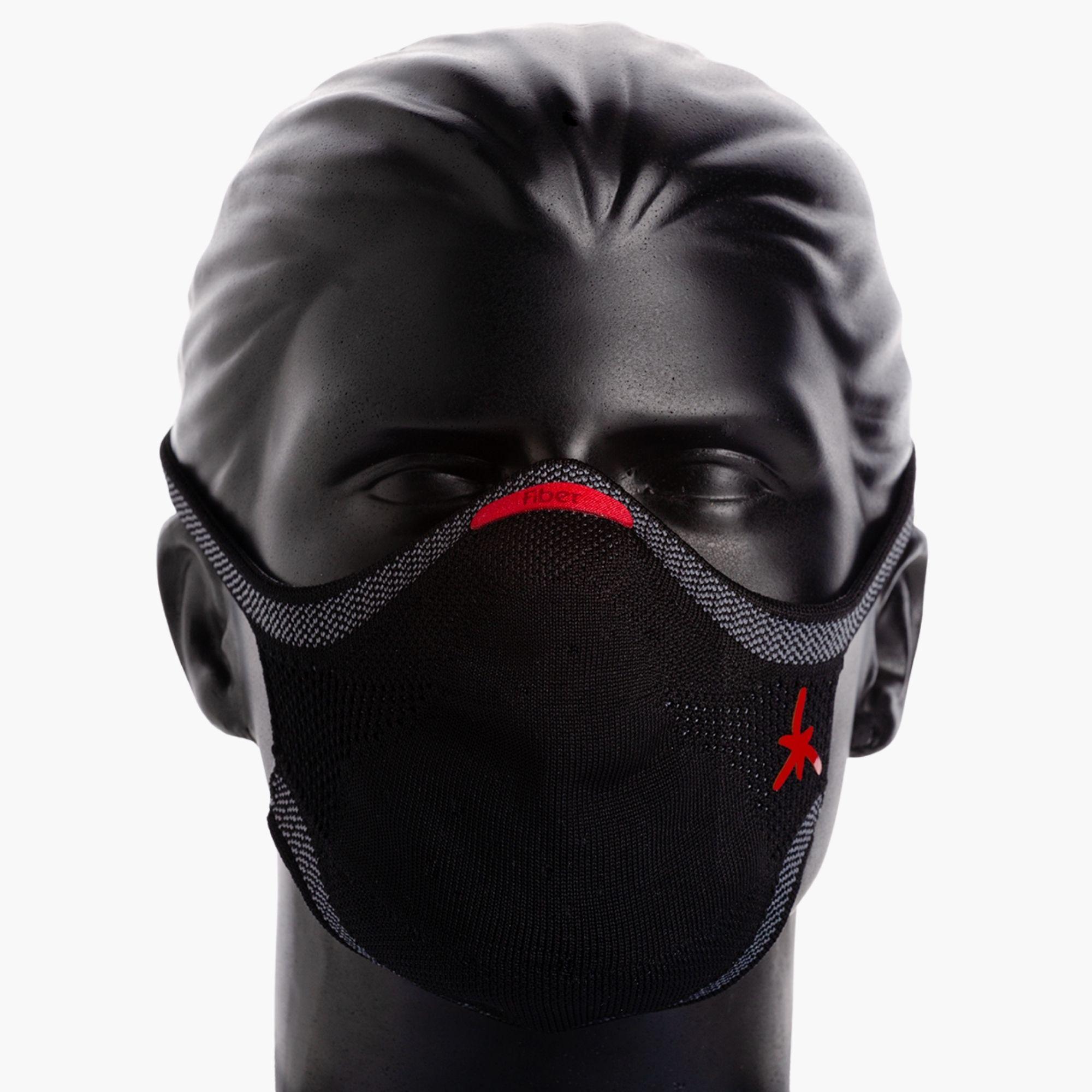 Máscara Esportiva KNIT - LOBO PRETA