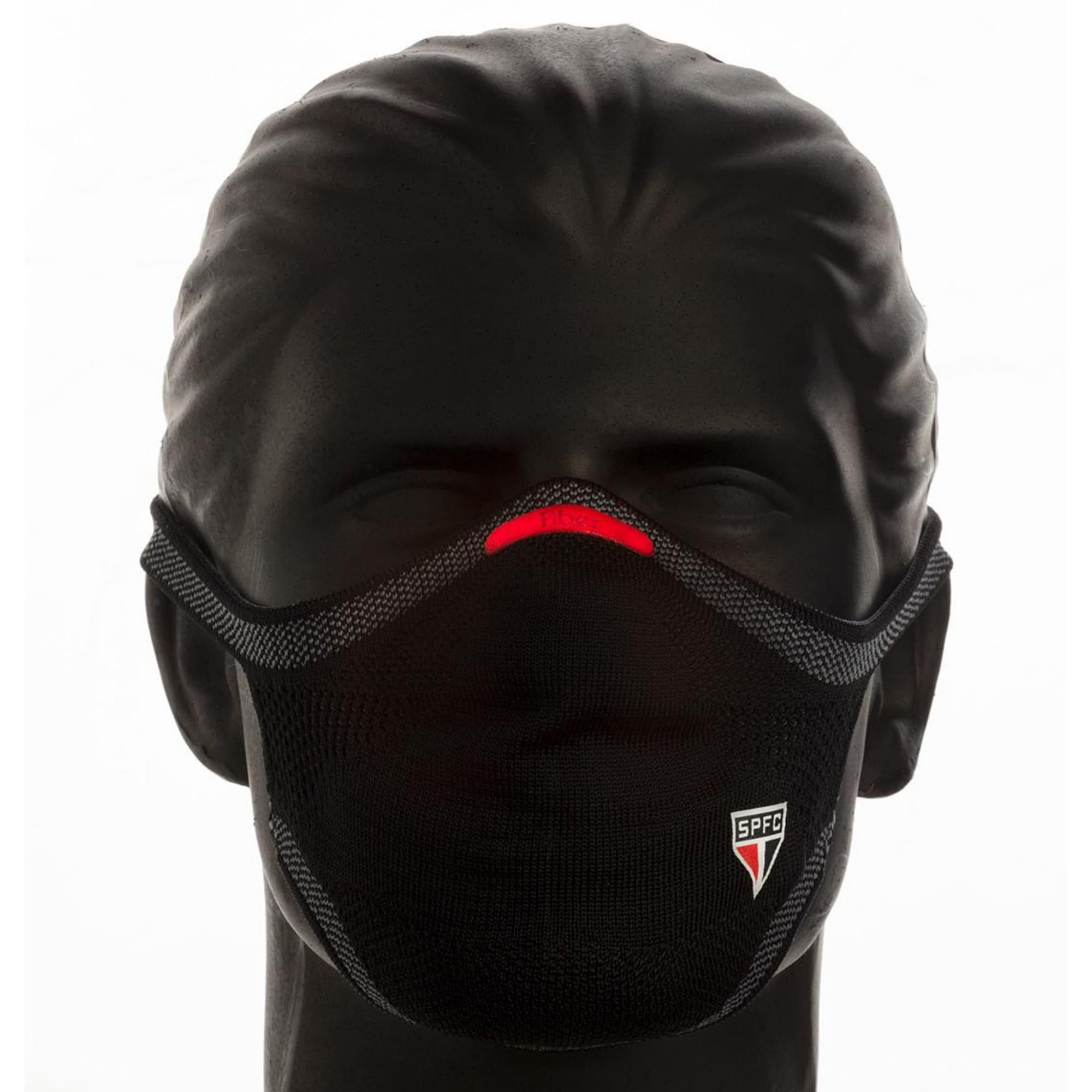 Máscara Esportiva KNIT - SPFC PRETA