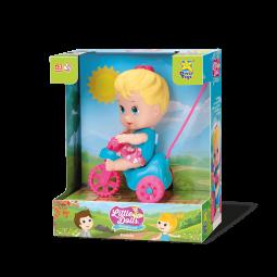 Boneca Little Dolls Playground Triciclo Menina - Divertoys