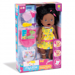 Boneca Negra My Little Collection Primeira Papinha - Divertoys