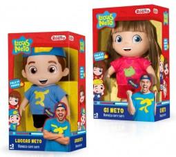 Bonecos Luccas e Gi Neto